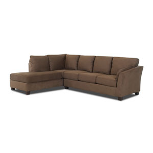 Drew Sectional Left Sofa, Right Chaise Microsuede/Straw