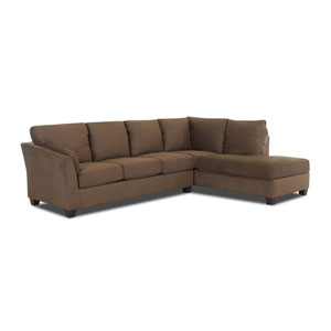 Drew Sectional Left Sofa, Right Chaise Microsuede/Thyme