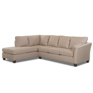 Drew Sectional Right Sofa, Left Chaise Microsuede/Chocolate