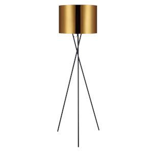 Cara Gold and Black Tripod Floor Lamp