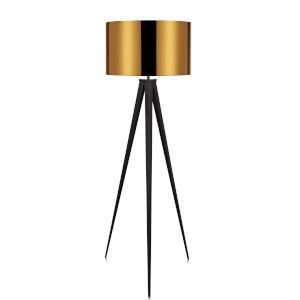 Romanza Gold and Black Tripod Floor Lamp