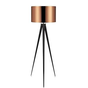 Romanza Copper and Black Tripod Floor Lamp