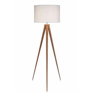 Romanza White and Tan Tripod Floor Lamp