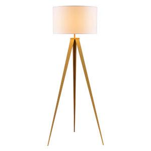 Romanza White and Matte Gold Tripod Floor Lamp