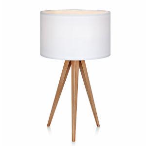 Romanza White and Tan Accent Table Lamp