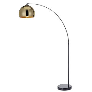 Arquer Gold and Black Arc Floor Lamp
