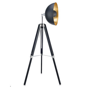Fascino Black and Gold Tripod Floor Lamp