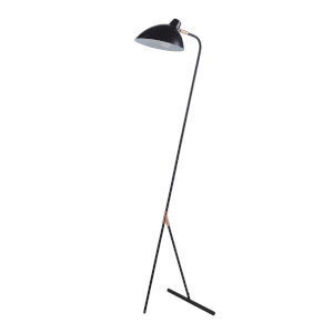 Delicala Black and Gold Monopod Floor Lamp