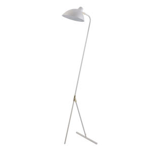 Delicala White and Gold Monopod Floor Lamp