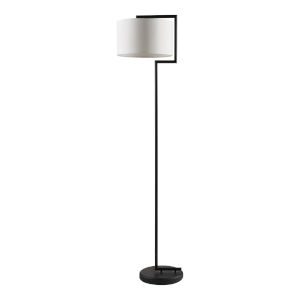 Sedona White and Black Floor Lamp