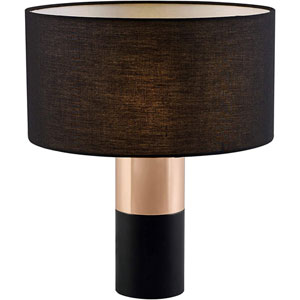 Ayden Black and Brass Accent Table Lamp