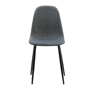 Minimalista Dark Grey and Black Chair, Set of 2