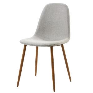 Minimalista Light Gray and Wood Grain Chair, Set of 2