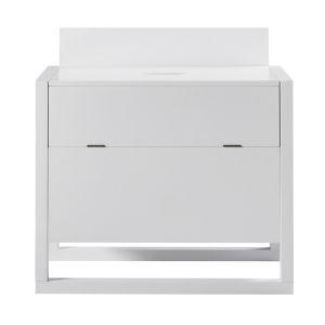 Raduno White Bar Cabinet