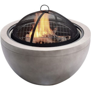 Sand Outdoor 30-Inch Round Wood Burning Fire Pit