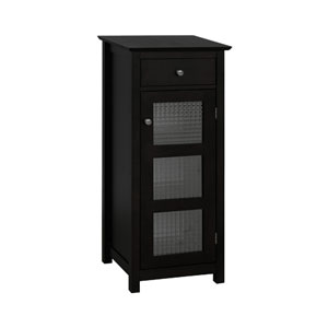 Chesterfield Espresso Floor Cabinet with Drawer