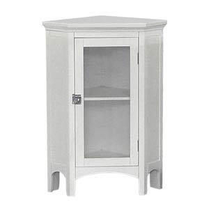 Madison White Corner Floor Cabinet