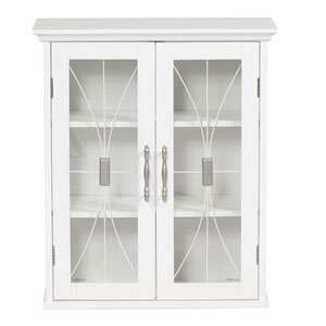 Delaney White Wall Cabinet with Two Doors