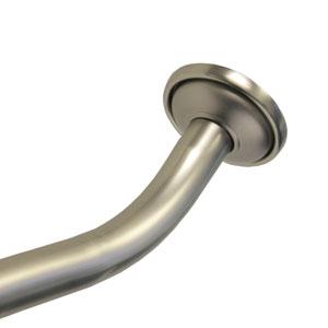 Satin Nickel Adjustable Curved Shower Rod