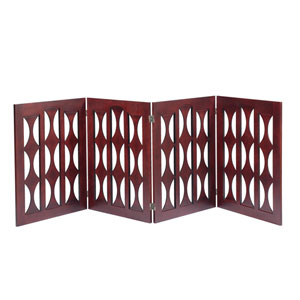 Ruth Mahogany 4 Panel 96-Inch Dog Gate