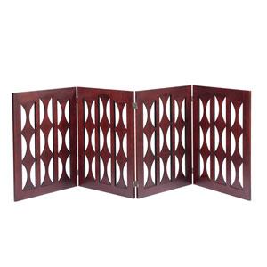 Ruth Mahogany 4 Panel 96-Inch Dog Gate