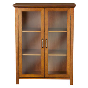 Avery Oak Floor Cabinet with Two-Doors