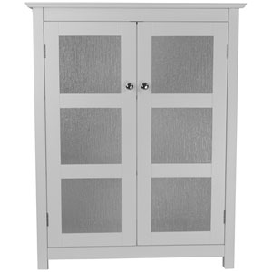 Connor White Floor Cabinet with 2 Glass Doors