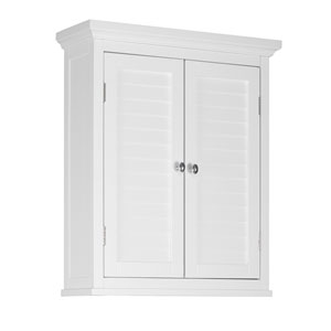 Slone Wall Cabinet with Two Shutter Doors in White