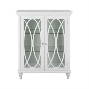 Florence 32-Inch White Double Door Floor Cabinet