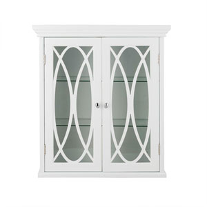 Florence 24-Inch White Two Doors Wall Cabinet