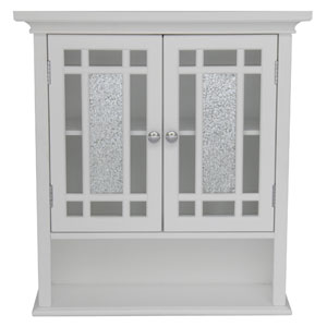 Windsor White Wall Cabinet with Two Doors and One Shelf