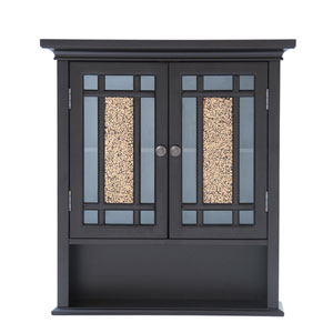 Windsor Dark Espresso Wall Cabinet with Two Doors and One Shelf