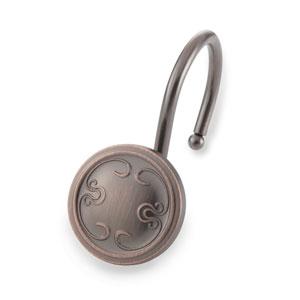 Oil Rubbed Bronze Shower Hooks, Set of 12