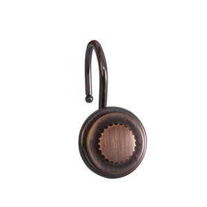 Shower Hooks Oil Rubbed Bronze Round Bottle Cap Design