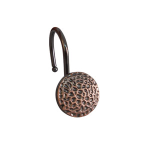 Shower Hooks Oil Rubbed Bronze Round Hammered Surface Look