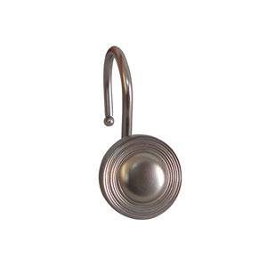 Shower Hooks Satin Nickel Multiple Circle