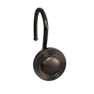 Shower Hooks Oil Rubbed Bronze Multiple Circle
