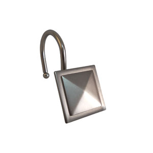 Shower Hooks Satin Nickel Diamond Line In a Square