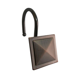 Shower Hooks Oil Rubbed Bronze Diamond Line In a Square