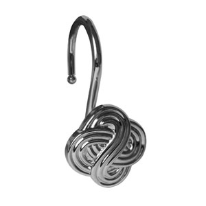 Shower Hooks Chrome Gaelic Knot