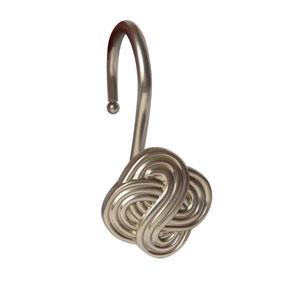 Shower Hooks Satin Nickel Gaelic Knot