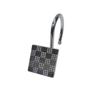 Chrome Checker Shower Hooks
