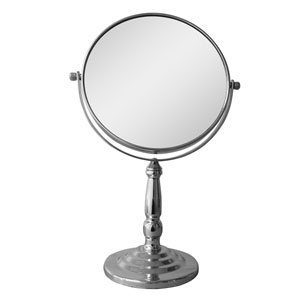 Chrome Freestanding Victorian Bath Magnifying Makeup Mirror