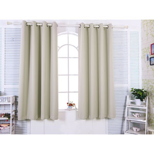 96-Inch Tripoli Premium Solid Insulated Thermal Blackout Grommet Window Panels, Oyster