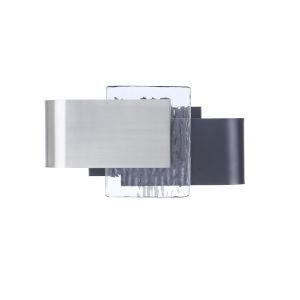 Harmony Flat Black and Polished Nickel LED Wall Sconce