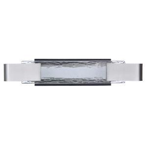 Harmony Flat Black and Polished Nickel LED Vanity Light