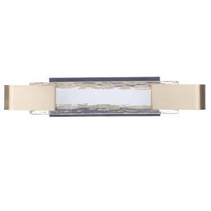 Harmony Flat Black and Satin Brass LED Vanity Light