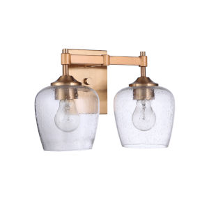 Stellen Satin Brass Two-Light Bath Vanity