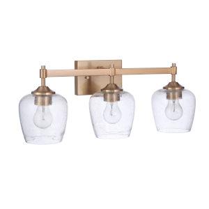Stellen Satin Brass Three-Light Bath Vanity