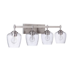 Stellen Brushed Polished Nickel Four-Light Bath Vanity